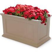 "Mayne® Fairfield Patio Planter, 36""L x 20""W x 20""H, Rectangular, Clay"