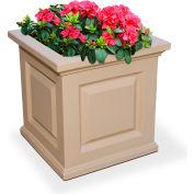 "Mayne® Nantucket Planter, 16""L x 16""W x 16""H, Square, Clay"