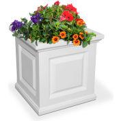 """Mayne® Nantucket Planter, 16""""L x 16""""W x 16""""H, Square, White"""