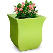 "Mayne® 5873-MG Valencia Square Planter - 16"" x 16"" x 18"" - Macaw Green"