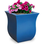 "Mayne® 5873-NB Valencia Square Planter 16"" x 16"" x 18"" - Neptune Blue"