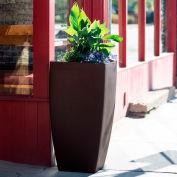 """Mayne® Kobi Tall Planter, 20""""L x 20""""W x 38""""H, Square, Espresso"""