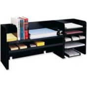 MMF Industries Desk Organizer with 4 Dividers Black