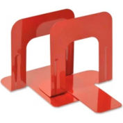 "MMF Industries Economy Bookends 5-3/16"" High Red 2 Pack"