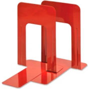 """MMF Industries Deluxe Bookends 8-3/16"""" High Red 2 Pack"""