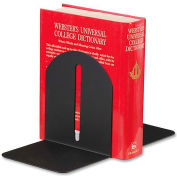 "MMF Industries Magnetic Fashion Bookends 6-1/4"" High Black 2 Pack"