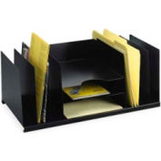 MMF Industries Desktop Organizer with 9 Compartments Black