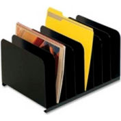 MMF Industries Vertical Organizer with 8 Compartments Black
