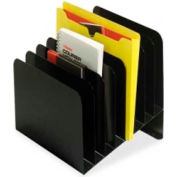 """MMF Industries Slanted Vertical Organizer with 8 Compartments 10-5/8"""" x 11-13/16"""" Black"""