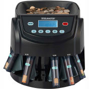 MMF STEELMASTER Coin Counter-Sorter-Wrapper 200200C - LCD Display, 2,000 Coin Capacity, Black