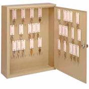 MMF STEELMASTER® Motor Vehicle Key Cabinet 2010060D03- 60 Key - Dual Control Key Locks, Sand