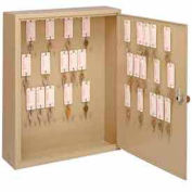 MMF STEELMASTER® Motor Vehicle Key Cabinet 2010108M03 - 108 Key Master Keyed Lock, Sand
