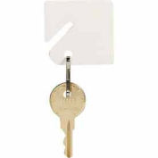 MMF Slotted Rack Key Tags with Snap-Hook 201300006 Plain White, Resealable Bag, 2 Pack of 40 Tags - Pkg Qty 2