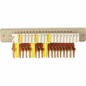 MMF STEELMASTER® 20-Key Wall Mount Key Rack 201302003 Sand