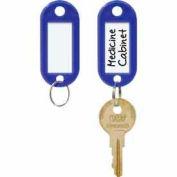 MMF STEELMASTER® ID Key Tags 201400608 - 1 Pack of 6 Tags, Blue - Pkg Qty 4