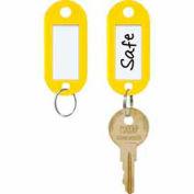 MMF STEELMASTER® ID Key Tags 201400612 - 1 Pack of 6 Tags, Yellow - Pkg Qty 4