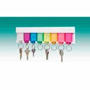 MMF STEELMASTER® 8-Key Plastic Wall Mount Rack 201400847 Multi-Color Tag