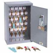 MMF STEELMASTER® Dupli Key#174; 50 Key Cabinet 2016050S01 Simplex Lock, Gray