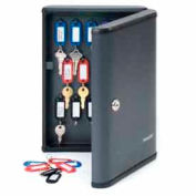 """MMF STEELMASTER®  30-Key Security Cabinet 2017230G2 - 9""""W x 2-3/4""""D x 12-1/8""""H, Charcoal Gray"""