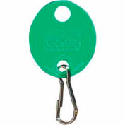 MMF Snap-Hook Oval Key Tags 201800902 Plain, Pack of 20 Tags, Green