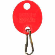 MMF Snap-Hook Oval Key Tags 201800907 Plain, Pack of 20 Tags, Red