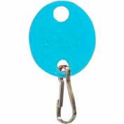 MMF Snap-Hook Oval Key Tags 201800908 Plain, Pack of 20 Tags, Blue