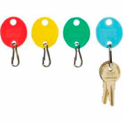 MMF Snap-Hook Oval Key Tags 2018009W47 Plain, Pack of 20 Tags, Assorted Colors