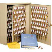 MMF STEELMASTER® Dupli-Key#174; Two-Tag 460 Key Cabinet 2018460C03 Combo Lock Sand