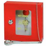 MMF STEELMASTER® Emergency Key Box 201900007 Keyed Differently Red
