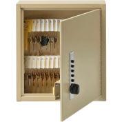 MMF STEELMASTER® Uni-Tag™ Key Cabinet 2019060AS03 - 60 Key, Simplex Lock, Sand