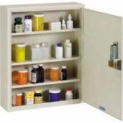 "STEELMASTER® Medical Security Cabinet with Simplex® Lock, 16-1/2""W x 5""D x 20-1/4""H, Putty"
