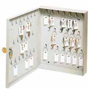 "MMF STEELMASTER® 40-Key Ring Cabinet 201KCH40PL - 8-1/2""W x 1-7/8""D x 10-1/8""H, Platinum"