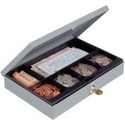 Cash Box With Security Lock, Low Profile - Pkg Qty 4