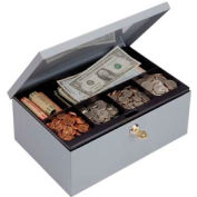 Cash Box With Security Lock, Extra Storage - Pkg Qty 4