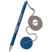 Counter Pen - Secure-A-Pen, Blue Ink - Pkg Qty 12
