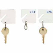 MMF Slotted Rack Key Tags with Snap-Hook 5313231CA06 - Numbered 201-220, White