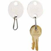 MMF Snap-Hook Oval Key Tags 5313260BA06 - Tags 101-120, White