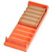 "MMF 212082516 Porta-Count Coin Tray, For $100 Quarters, 3-3/8"" x 11-1/2"" x 1-5/8, Orange"