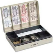 "Steelmaster™ Cash Box with Combination Lock, 11-1/4"" x 7-1/2"" x 3-1/8"", Sand"