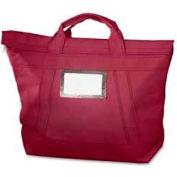 "MMF Industries™ Fire-Guard Locking Courier Bag, 18"" x 18"", Burgundy"