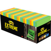 """Post-it® Extreme Notes Water-Resistant Self-Stick Notes, Assorted, 3"""" x 3"""", 45 Sheets, 32/Pack"""