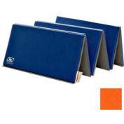 """Standard Tumbling Mat 1-3/8""""THK x 48""""W x 72""""L, 4 Sides Hook & Loop, Orange"""