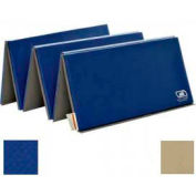 "Standard Tumbling Mat 1-3/8""THK x 60""W x 120""L, 4 Sides Hook & Loop, Royal/Tan"