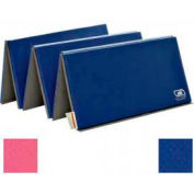 "Standard Tumbling Mat 1-3/8""THK x 48""W x 72""L, 2 Ends Hook & Loop, Pink/Royal"