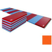 """Educator Mat 2-3/8""""THK x 48""""W x 72""""L, 4 Sides Hook & Loop, Orange"""