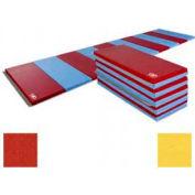 """Educator Mat 2-3/8""""THK x 48""""W x 72""""L, 4 Sides Hook & Loop, Red/Yellow"""