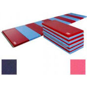 "Educator Mat 2-3/8""THK x 48""W x 96""L, 4 Sides Hook & Loop, Navy/Pink"