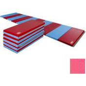 """Educator Mat 2-3/8""""THK x 48""""W x 96""""L, 4 Sides Hook & Loop, Pink"""