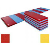 """Educator Mat 2-3/8""""THK x 48""""W x 96""""L, 4 Sides Hook & Loop, Red/Yellow"""
