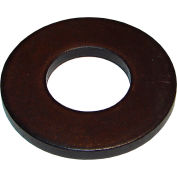 "1/4"" Precision Flat Washer - 5/8"" O.D. - 1/8"" Thick - Steel - Black Oxide - Pkg of 10 - FW-0"